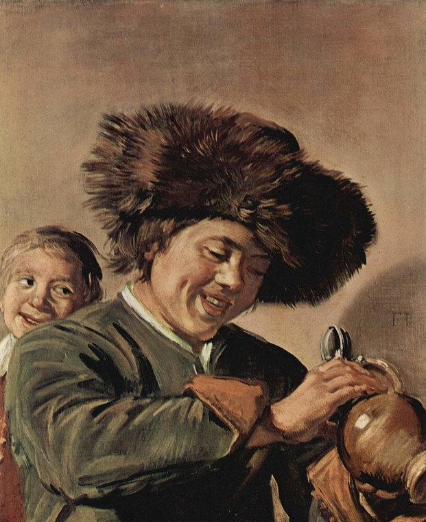 "Frans Hals - ""Two Laughing Boys With a Mug of Beer"" (1626)"