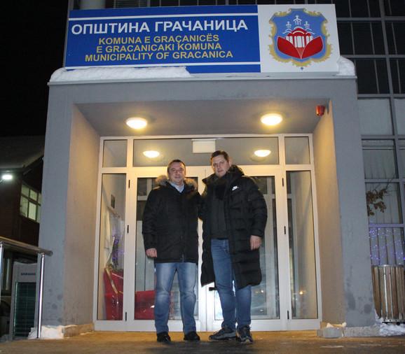 Gradonačelnik Gračanice Srđan Popović i prvi čovek BSS Nenad Borovčanin