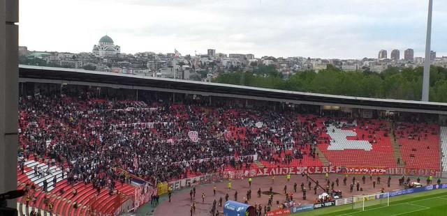 """Ovako izgleda severna tribina stadiona """"Rajko Mitić"""""""