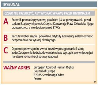 Europejski Trybunał Praw Człowieka może zwrócić skarżącemu koszty postępowania