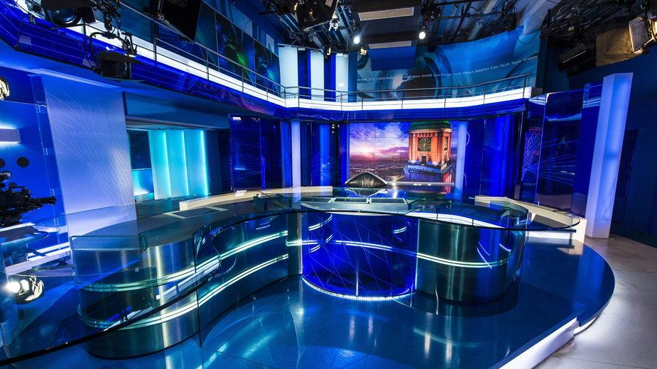 """Studio programu """"Wiadomości"""" w TVP1"""