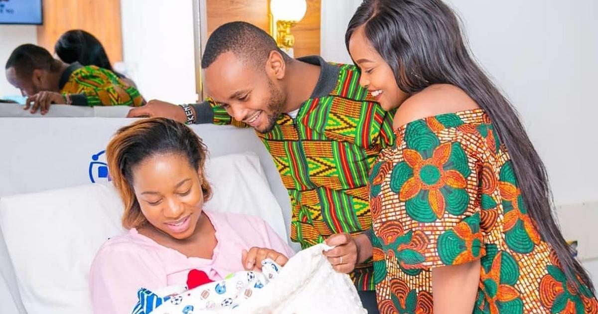 Bahati and Diana Maraua unveils son's Majesty Bahati face