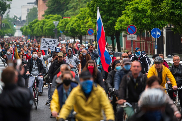 Ljubljana, Slovenija, biciklistički protest