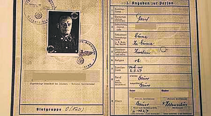 Licna karta Jozefa H. Johanovog strica foto Centar Simon Vizental