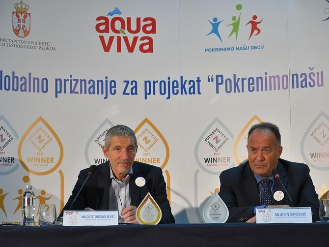 """Aqua Viva osvojila dva globalna priznanja za program """"Pokrenimo našu decu"""""""