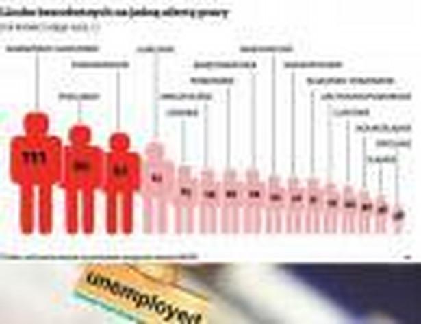 Liczba bezrobotnych na jedną ofertę pracy