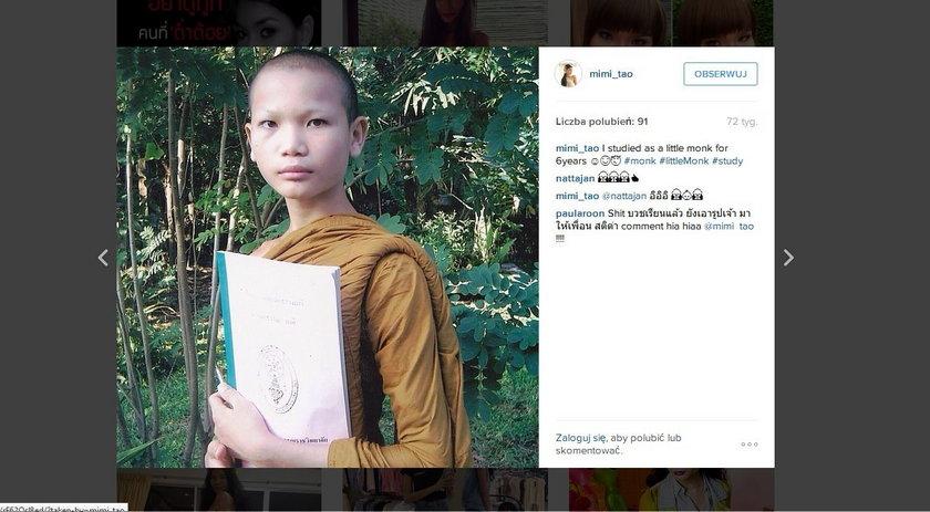 Mimi Tao przez 6 lat temu był mnichem