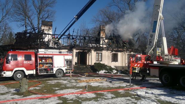 Pożar dworku 4 marca 2013 r.