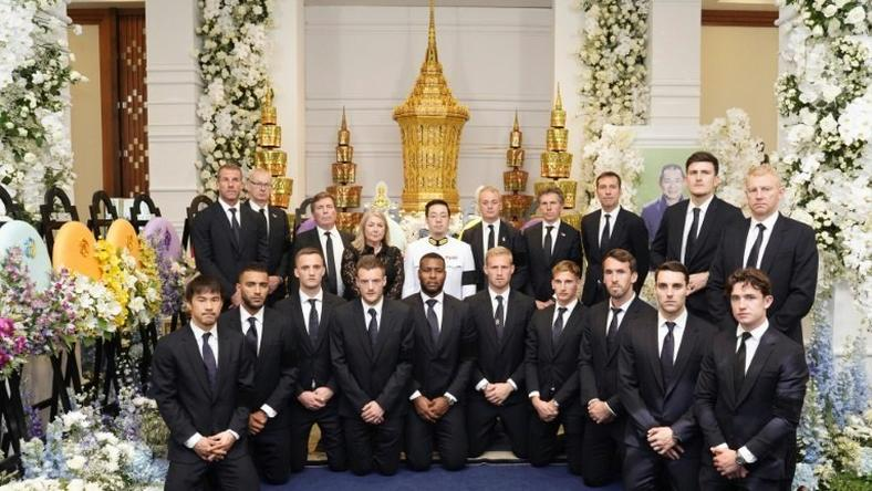 Leicester's players paid their respects to late owner Vichai Srivaddhanaprabha