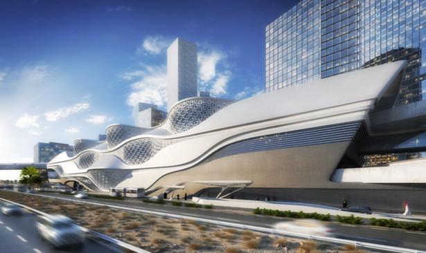 Władze Arabii Saudyjskiej rozstrzygnęły przetarg na budowę podziemnej kolejki, która ma rozładować problemy transportowe w 6-milionowej metropolii. Na zdjęciu: Metro w Rijadzie: stacja Dzielnica Finansowa Króla Abdullaha fot. Zaha Hadid Architects