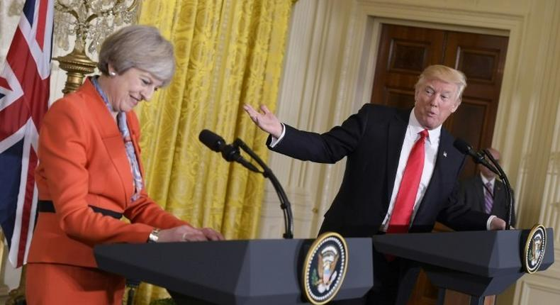 Instead of arriving home to plaudits after meeting US President Donald Trump, British Prime Minister Theresa May flew into a diplomatic firestorm