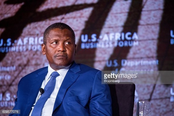 Aliko Dangote at the U.S. Africa Business Forum in New York, U.S., on Wednesday, Sept. 21, 2016