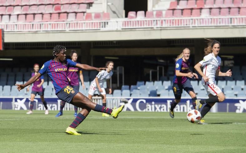 Asisat Oshoala now has seven goals for Barcelona in six goals (Twitter/FCBfemeni)c