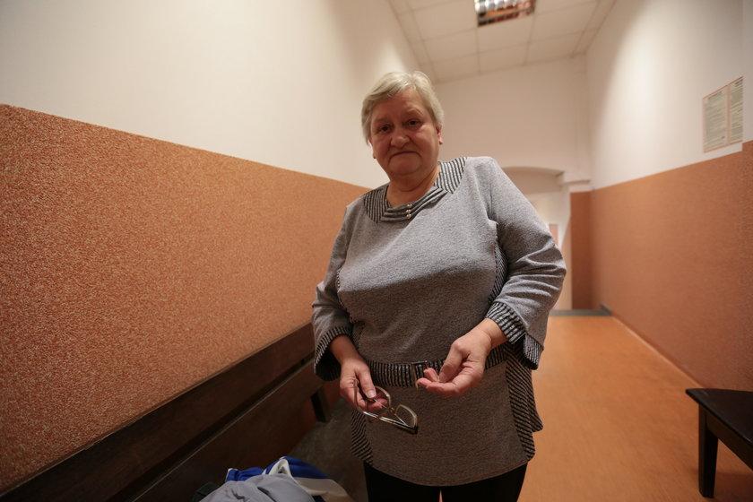 Poszkodowana Zofia Gonciarz przed sądem