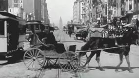 Zapis z kamery sprzed ponad stu lat - jak wyglądał wtedy ruch uliczny?