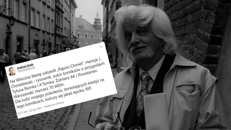 """Henryk Jerzy Chmielewski nie żyje. Andrzej Duda żegna """"Papcio Chmiela"""""""