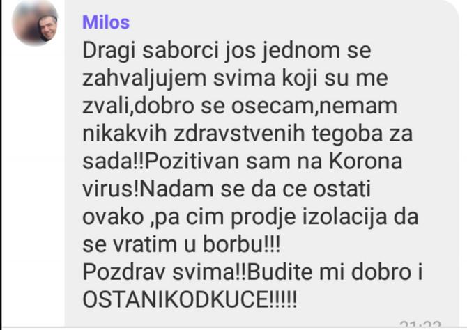 Poruka dr Miloša Neškovića