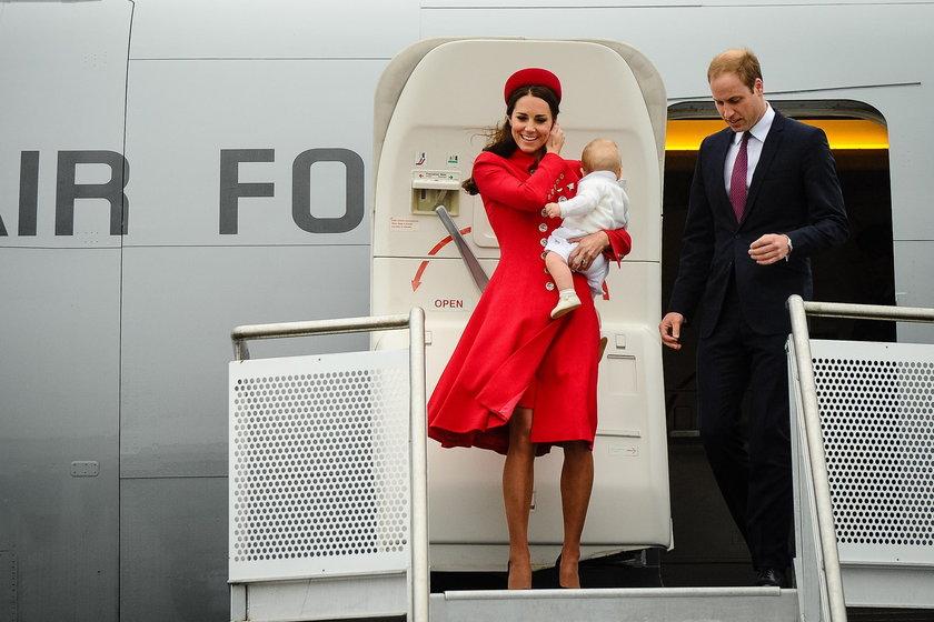 Książęca para na lotnisku w Wellington