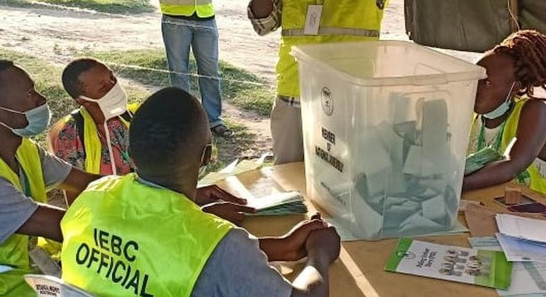 IEBC officials tallying votes after December 15th, 2020 by-election