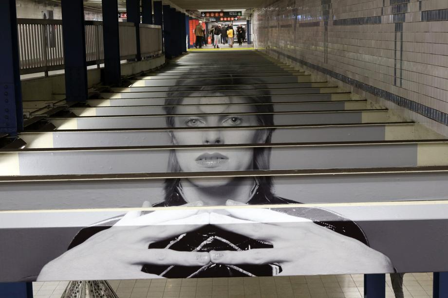 Bowie Images On Display In New York Subway