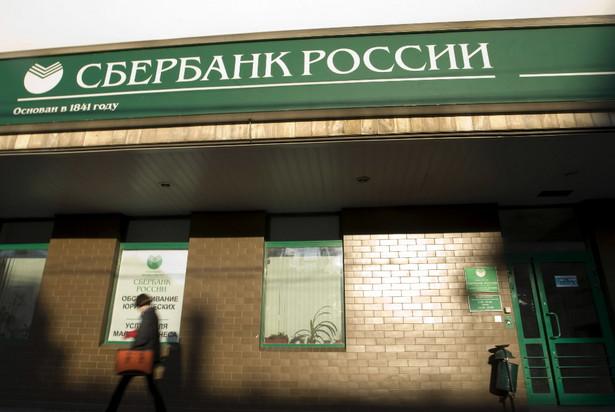 Jedna z placówek Sbierbanku w Moskwie