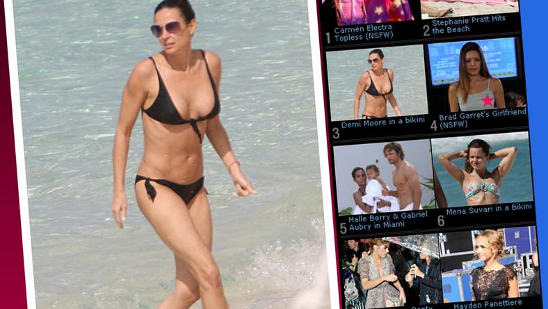 Zobacz Demi Moore w bardzo skąpym bikini