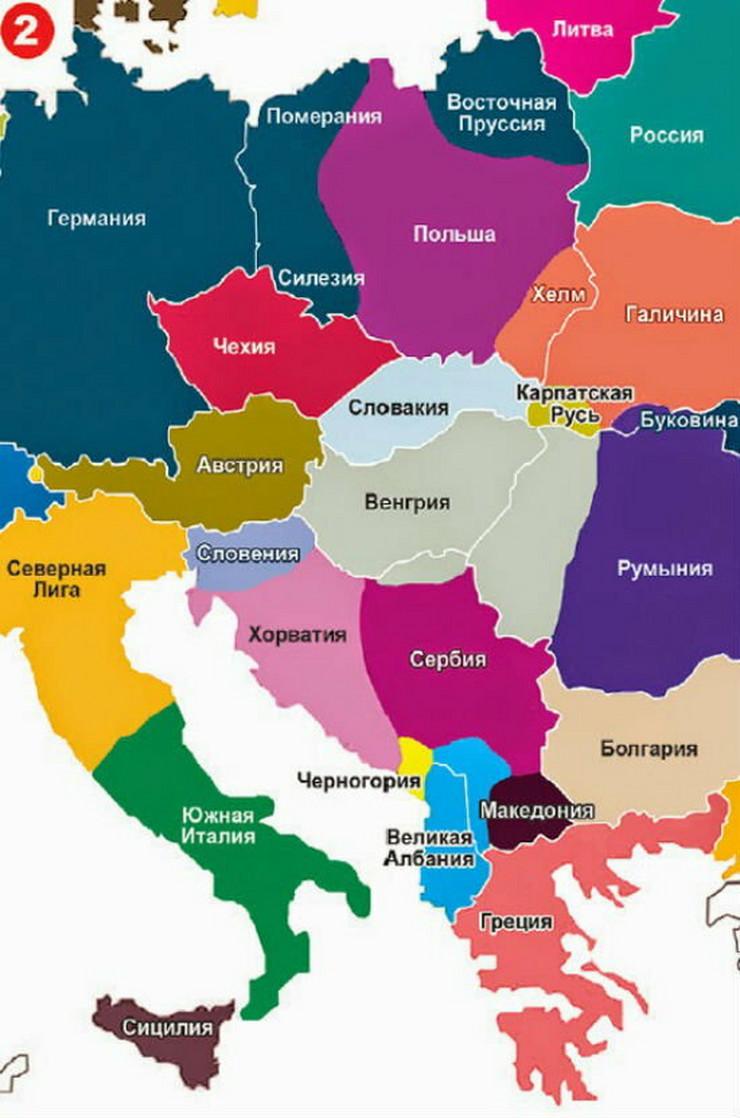 mapa evrope drzave EVROPA PO PUTINU Kako ruski predsednik zamišlja granice 2035  mapa evrope drzave