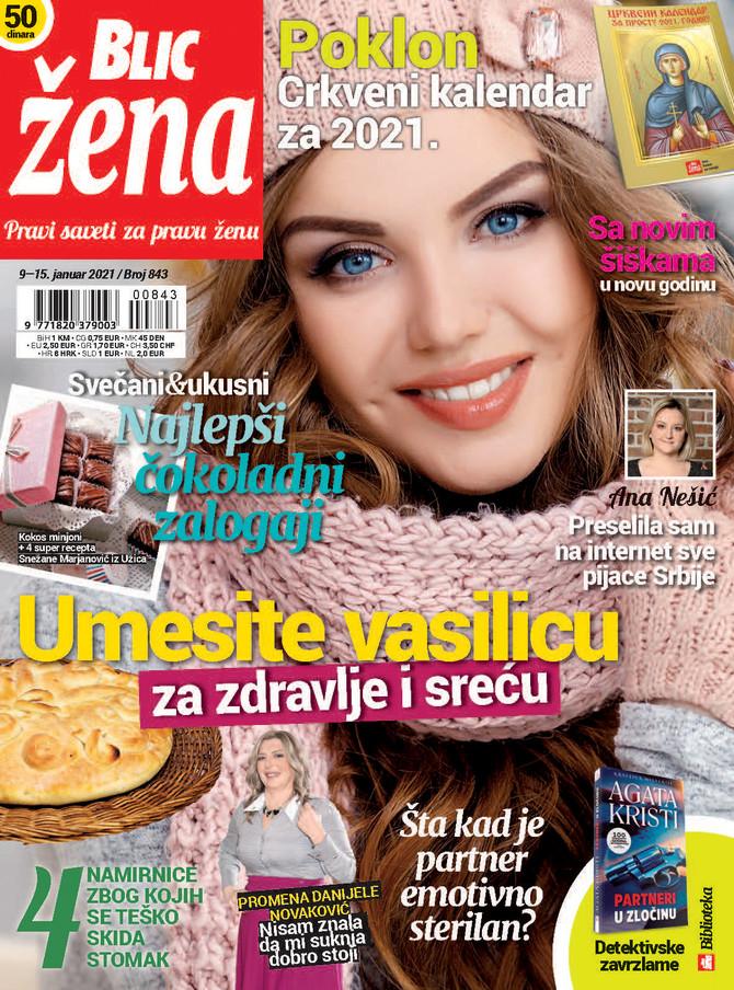 """U subotu 9. januara na kioscima je nova """"Blic žena"""""""