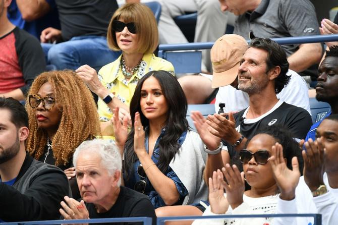 Megan Markl je nedavno na US Openu navijala za prijateljicu Serenu Vilijams, u Ameriku je otišla bez supruga i njihoovg sina Arčija Harisona