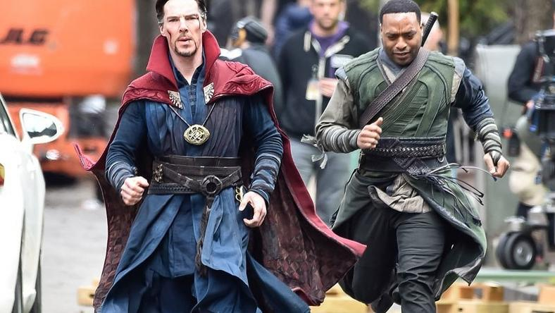 "Benedict Cumberbatch and Chiwetel Ejiofor on set of ""Doctor Strange"""