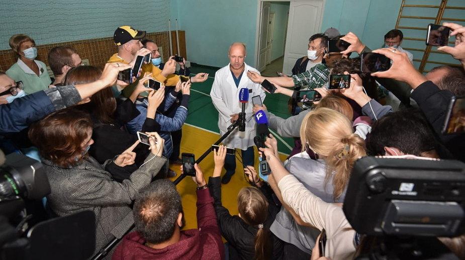 Anatolij Kaliniczenko, zastępcza naczelnego lekarza szpitala w Omsku, zaprzecza doniesieniom o truciźnie w organizmie Aleksieja Nawalnego