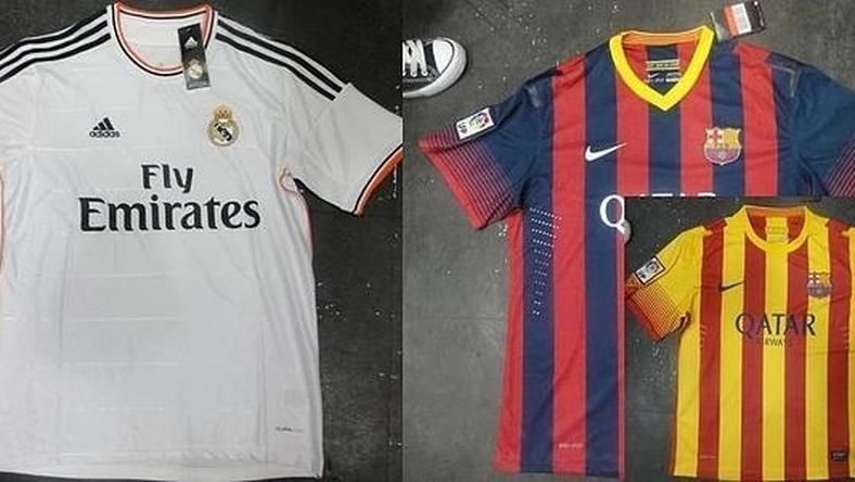 Koszulki Realu i Barcelony