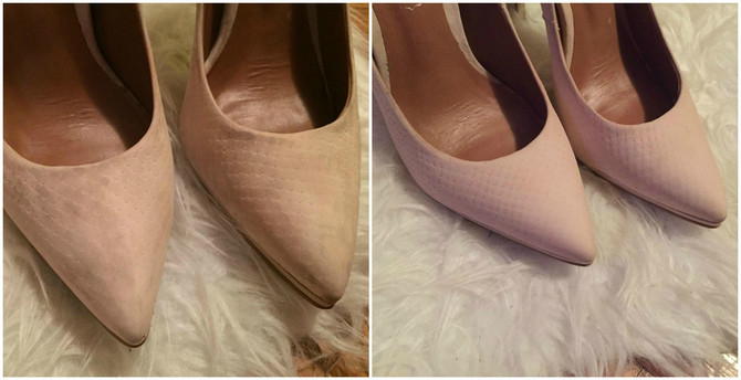Moje cipele pre i posle čišćenja micelarnom vodom