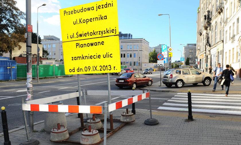 Remont ul. Kopernika i Świętokrzyskiej w Warszawie