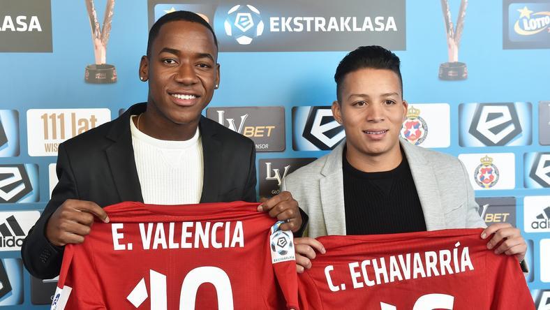 Ever Valencia (L) i Cristian Echavarria
