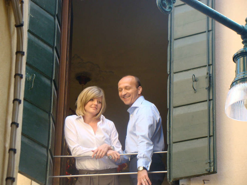 Izabela i Kazimierz Marcinkiewiczowie w Wenecji w 2009 r.