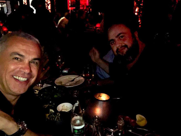 Zvezdan Terzić i Evangelos Marinakis u Monte Karlu, na večeri nakon žreba za Ligu šampiona