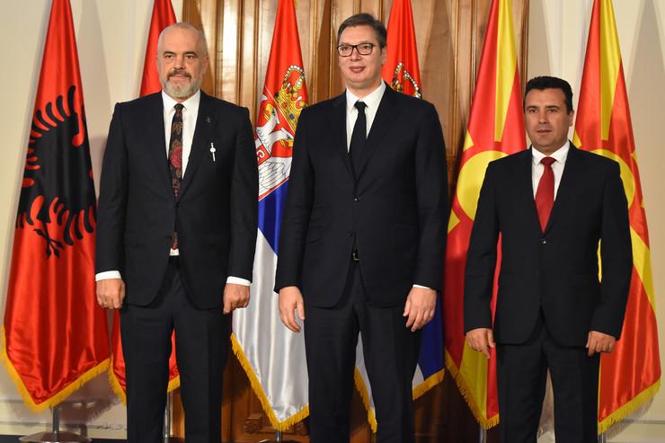 Novi Sad027 Edi Rama Aleksandar Vucic Zoran Zaev sastanak predsednika Srbije Albanije i Severne Makedonije foto Nenad Mihajlovic
