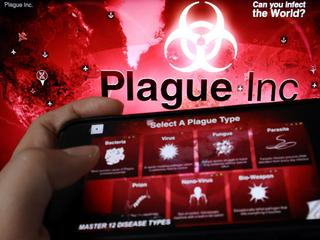 "FILE PHOTO: Illustration picture of strategy simulation app ""Plague Inc."