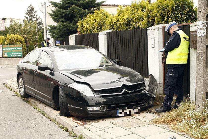 Auto Steczkowskiej po wypadku