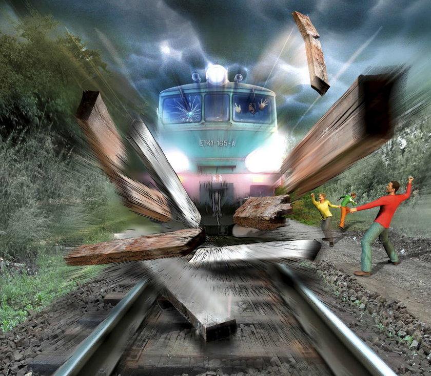 Chcieli wykoleić pociąg!