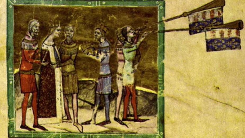 Ślub Elżbiety z Karolem Robertem (miniatura z Kroniki Ilustrowanej)