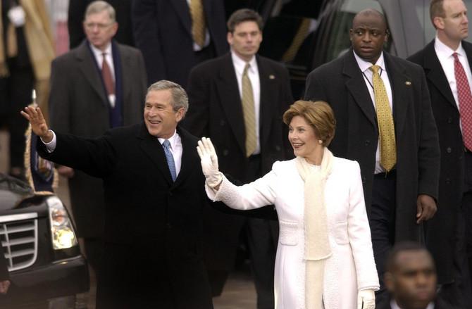 Lora Buš na inauguraciji 2005. godine u Vašingtonu