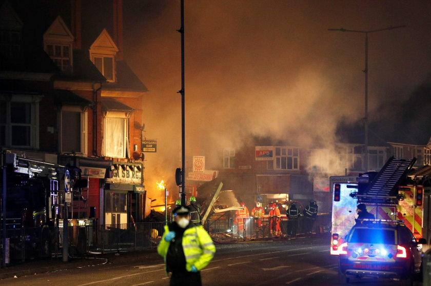 Do eksplozji na Hinckley Road w Leicester doszło w niedzielę