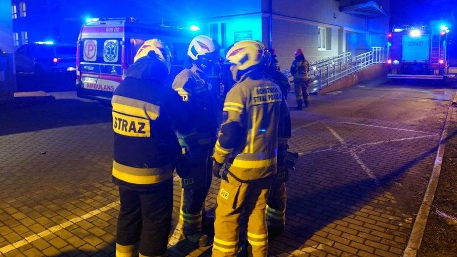 Pożar w szpitalu w Bielsku-Białej