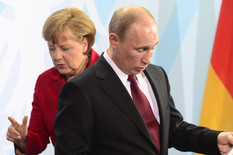 Angela Merkel i Vladimir Putin
