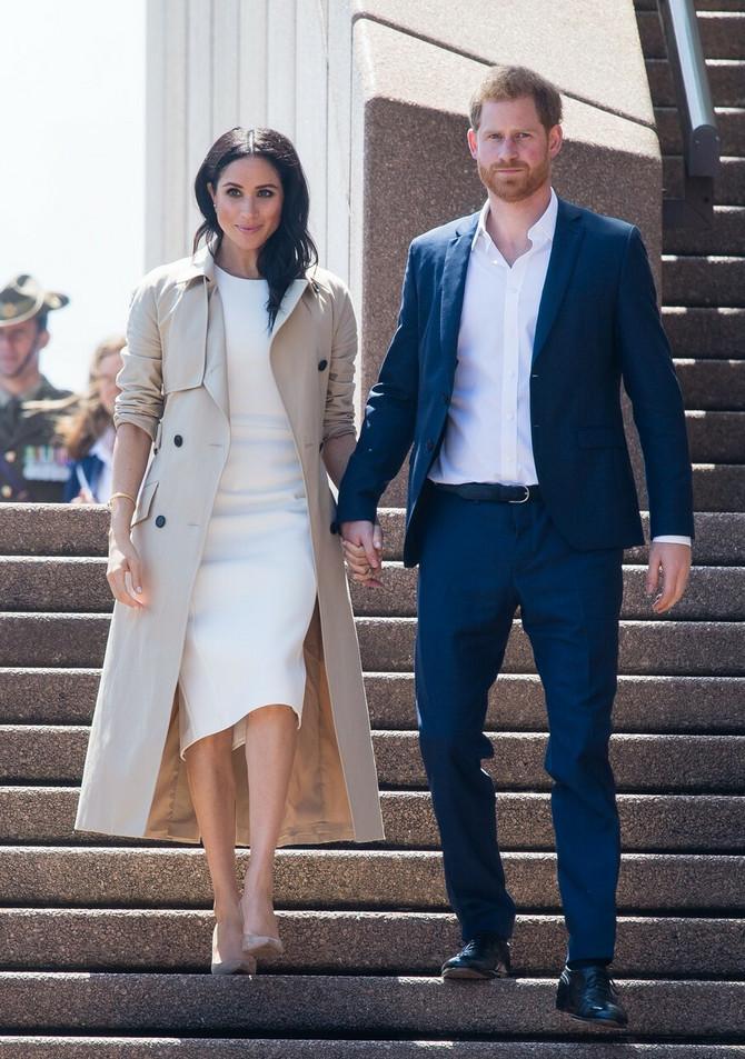 Megan Markl sa suprugom Harijem