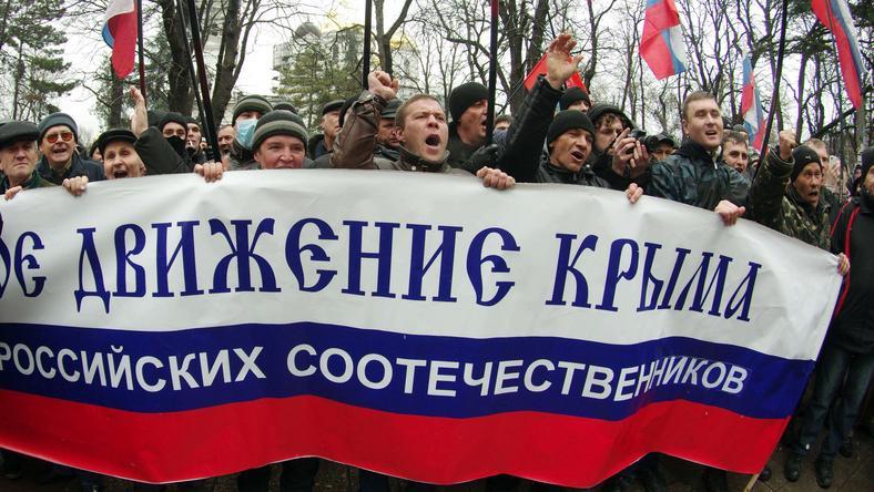Prorosyjscy demonstranci na Krymie