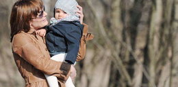 Dorota Gawryluk z córeczką. Foto
