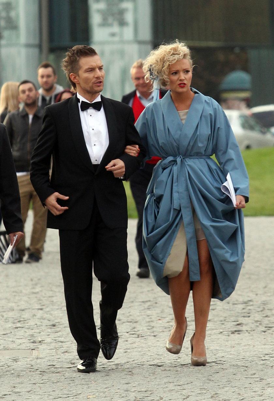 Adam Sztaba z żoną we wrześniu 2012 roku